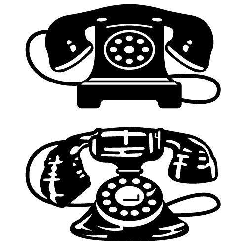 Vintage Phone SVG