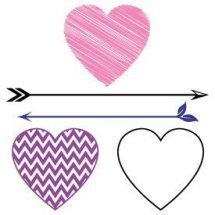 Free svg cut files split heart with arrows. This FREE download includes SVG, EPS, PNG and DXF files for personal cutting projects. Free vector / free svg monogram / free svg images for cricut / valentines / love svg