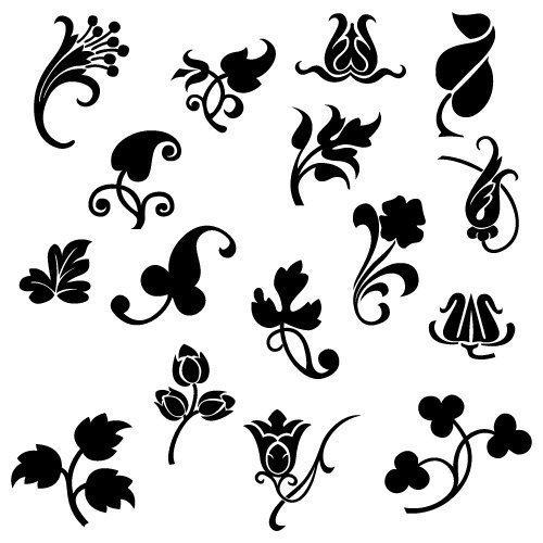 Vintage Flowers SVG