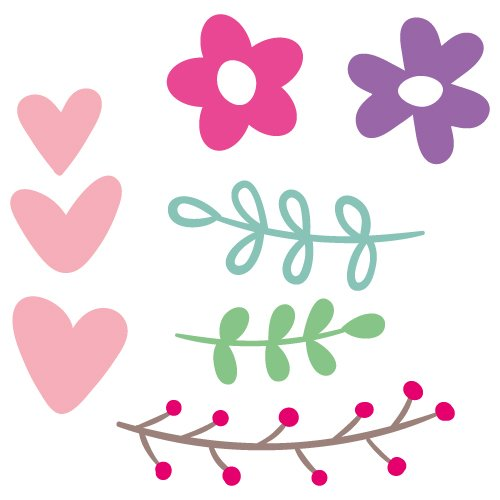 Flower Elements SVG