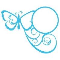 Butterfly Monogram Frame SVG