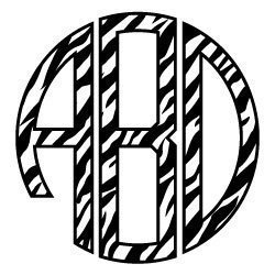 Free svg cut file Zebra Monogram Font. FREE downloads includes SVG, EPS, PNG and DXF files for personal cutting projects. Free vector / printable / free svg images for cricut