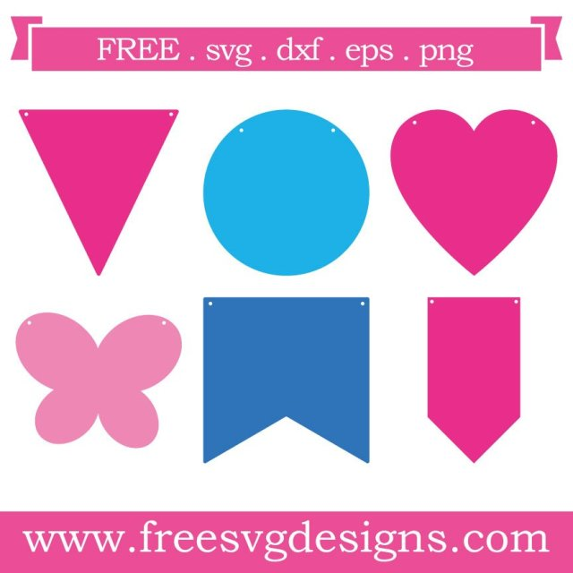 Free Bunting SVG cut file - FREE design downloads for your cutting