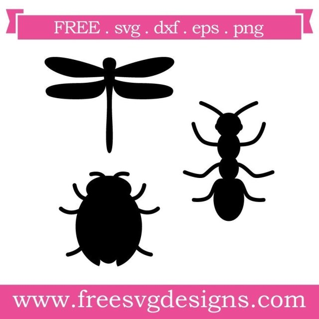 Free svg cut files bugs silhouette. FREE downloads includes SVG, EPS, PNG and DXF files for personal cutting projects. Free vector / printable / free svg images for cricut