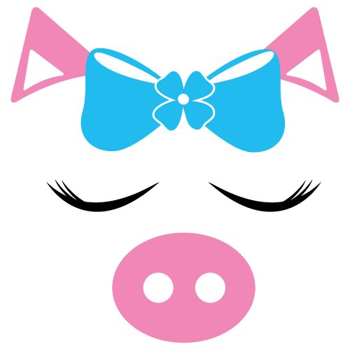 Free Pig cut file at www.freesvgdesigns.com. FREE downloads includes SVG, EPS, PNG and DXF files for personal cutting projects. Free vector / printable / free svg images for cricut
