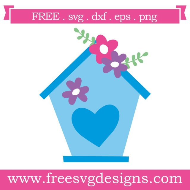 Free bird house cut files at www.freesvgdesigns.com. FREE downloads includes SVG, EPS, PNG and DXF files for personal cutting projects. Free vector / printable / free svg images for cricut