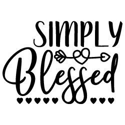 Simply Blessed Quote SVG