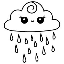 Raincloud SVG