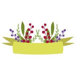 Floral Banner SVG