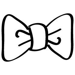Hand drawn bow SVG