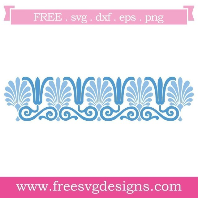 Free border pattern cut files at www.freesvgdesigns.com. Our FREE downloads includes OTF, TTF, SVG, PNG and DXF files for personal cutting projects. Free vector / printable / free svg images for cricut #freesvg #diycrafts #svg #cricut #silhouettecameo #svgfile #artdeco