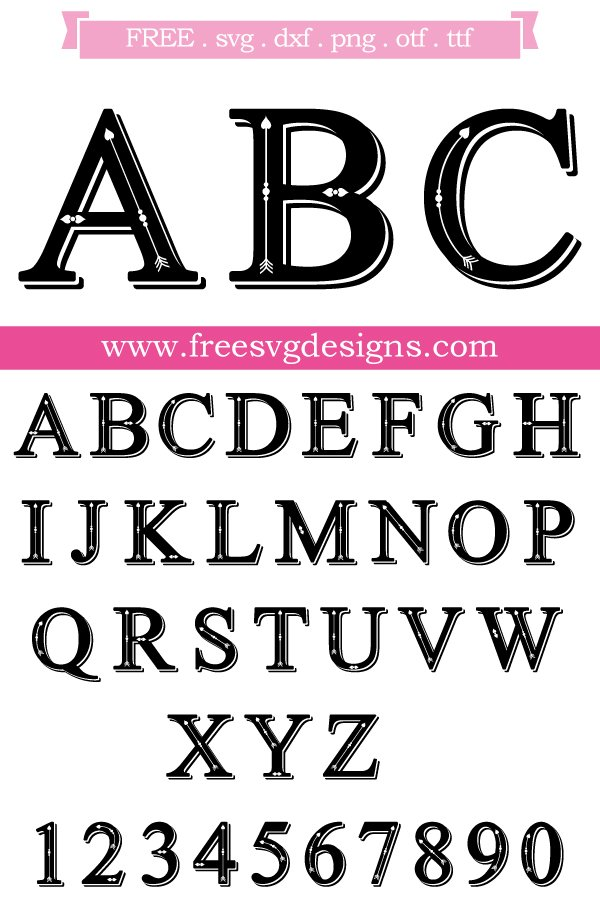 Free Monogram Font cut files at www.freesvgdesigns.com. Our FREE downloads includes OTF, TTF, SVG, PNG and DXF files for personal cutting projects. Free vector / printable / free svg images for cricut