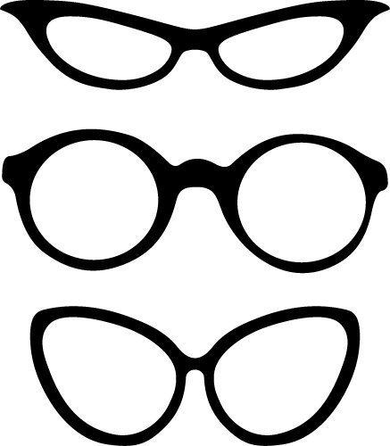 Free glass frames SVG files