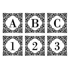 Square ornate monogram font
