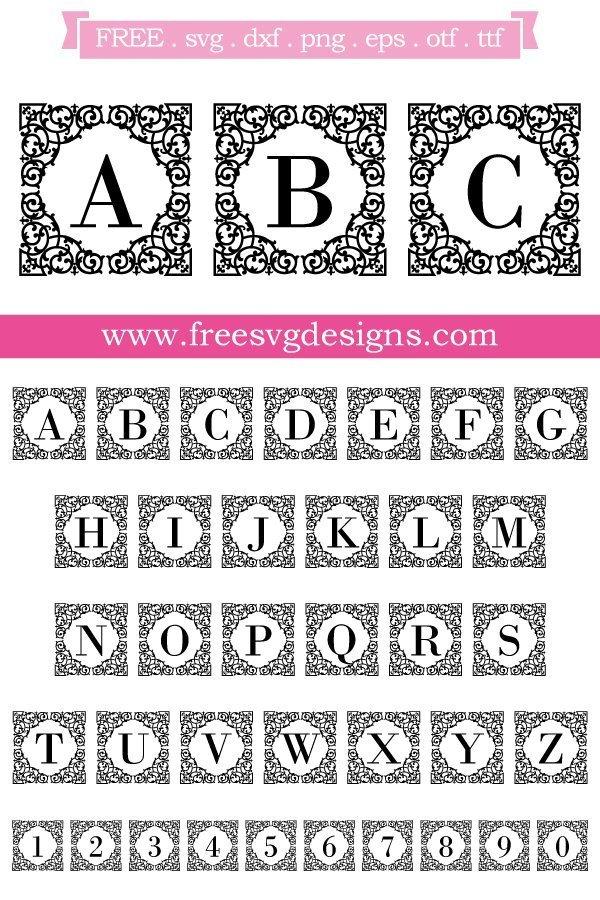 Square ornate monogram font