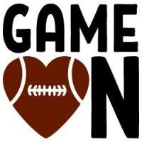 Game on Football SVG