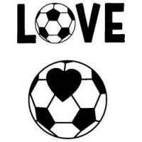 Love Soccer Ball SVG