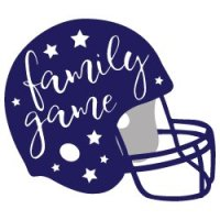 Family Game Football Helmet SVG