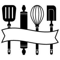 Kitchen utensils banner SVG