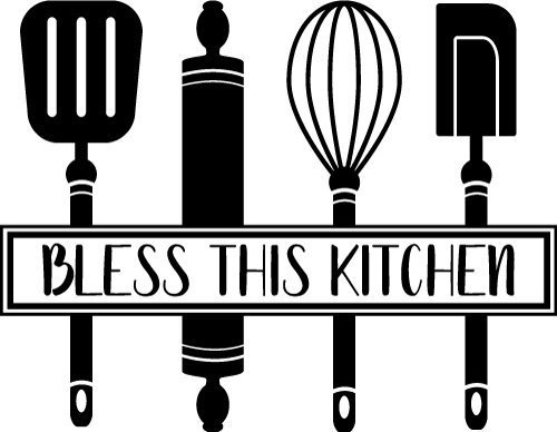 Download Free SVG Files | SVG, PNG, DXF, EPS | Bless this Kitchen