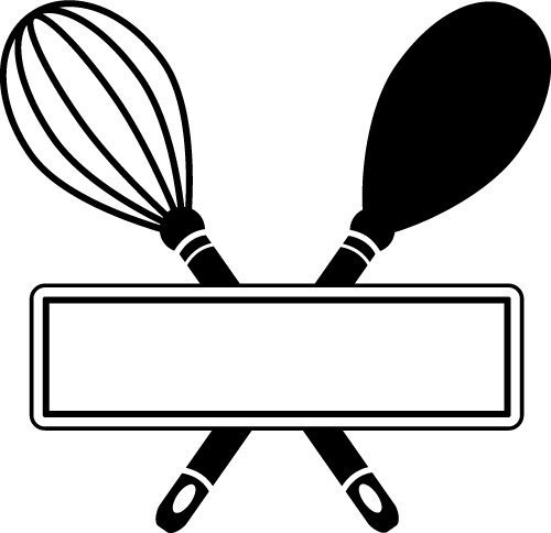 Kitchen utensils banner SVG