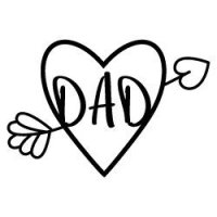 Dad Heart Arrow SVG