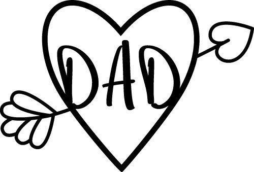 Dad Heart Arrow SVG