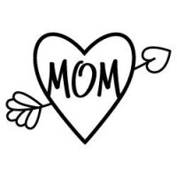 Mom Heart Arrow SVG