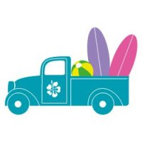 Pick Up Truck Summer SVG