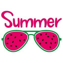 Quote Summer Watermelon Sunglasses SVG