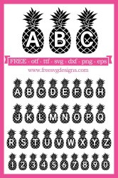 Free SVG Files SVG PNG DXF EPS Free Pineapple Font