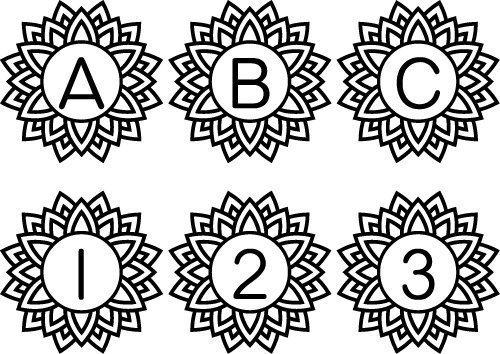 Mandala Monogram Free Font SVG