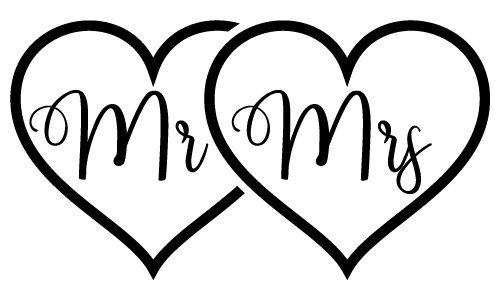 Download Free SVG Files | SVG, PNG, DXF, EPS | Mr Mrs Love Hearts