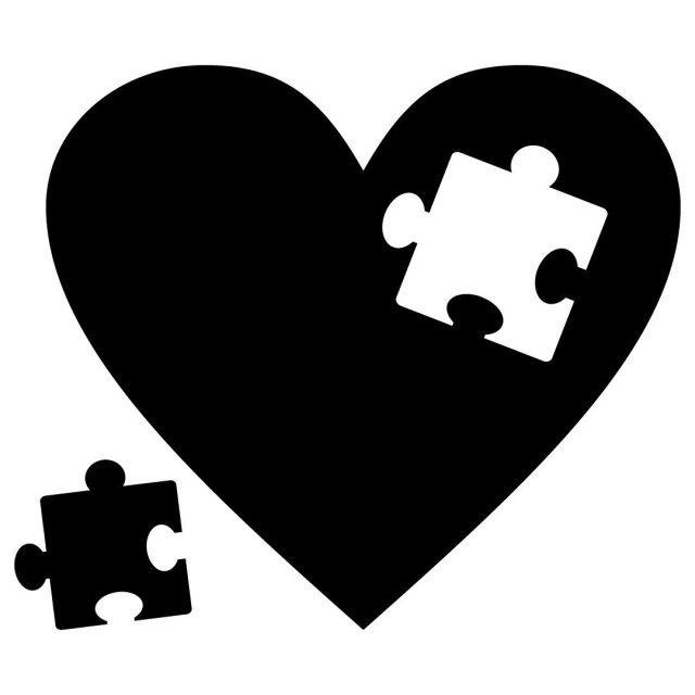 Love Heart Puzzle Piece SVG