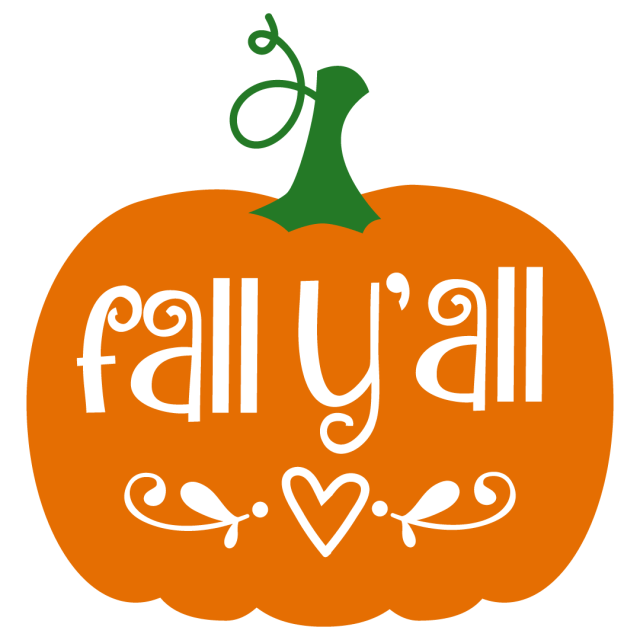 Quote Fall Yall Pumpkin SVG