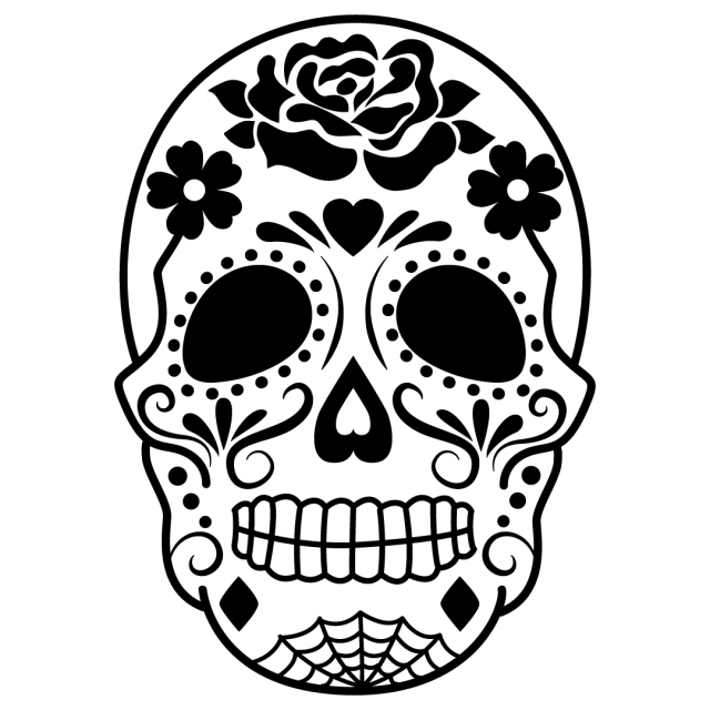 Sugar Skull Day Of The Dead SVG