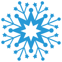 Christmas Snowflake Silhouette SVG
