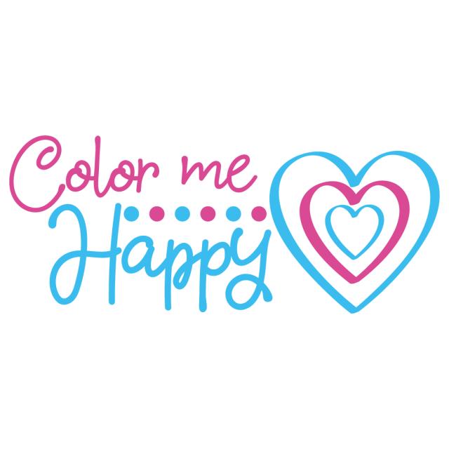 Quote Color Me Happy SVG