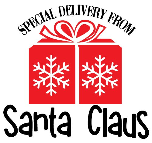 Quote Special Delivery From Santa Claus SVG