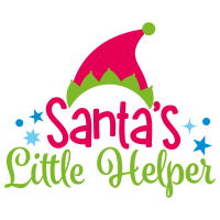 Quote Santas Little Helper Christmas SVG