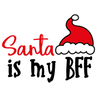 Quote Santa Is My BFF SVG