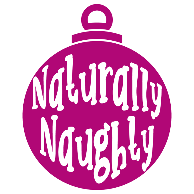 Quote Naturally Naughty Bauble Ornament SVG
