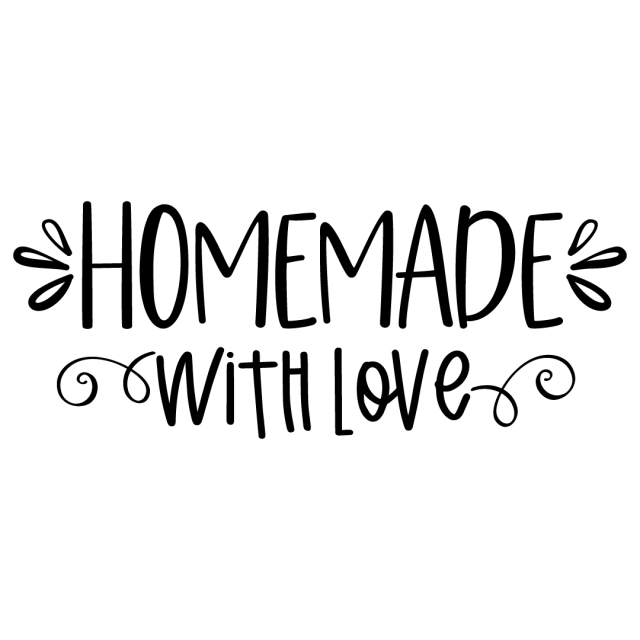 Quote Homemade With Love SVG