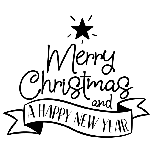 Quote Merry Christmas Happy New Year SVG