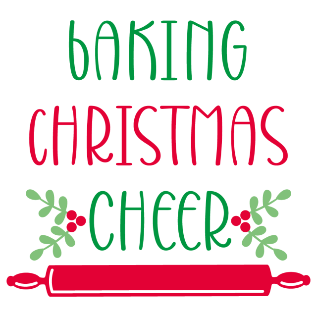 Quote Baking Christmas Cheer SVG