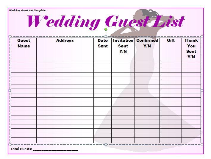 37 Free Beautiful Wedding Guest List & Itinerary Templates
