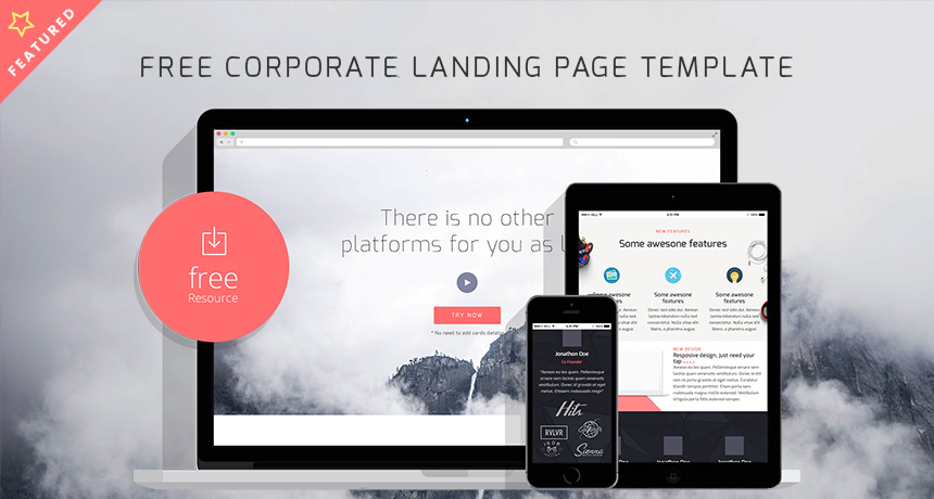 Free Corporate Landing Page HTML Template Free HTML5 Templates