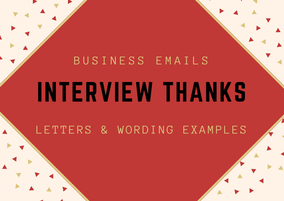 Interview Thank You letter - boost your chances of landing the job!