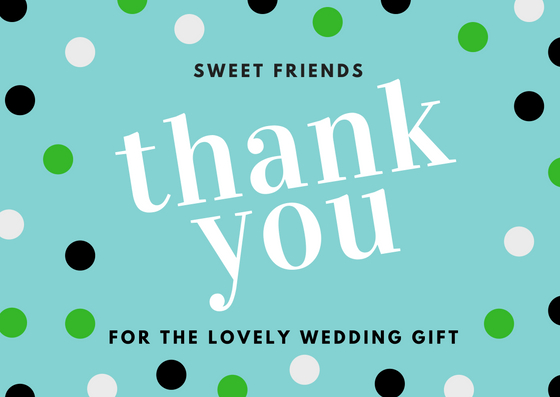 Thank You Letter For Wedding Gift: Lovely Thank You Card Wording