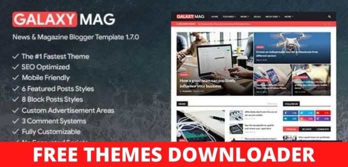 GalaxyMag Blogger Template Free Download
